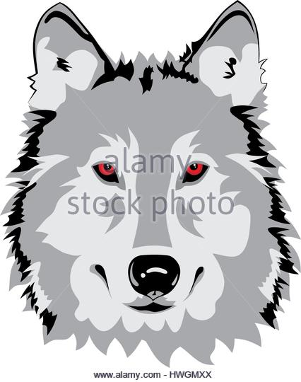 426x540 Wolf Face Animal Outline Vector Stock Photos Amp Wolf Face Animal