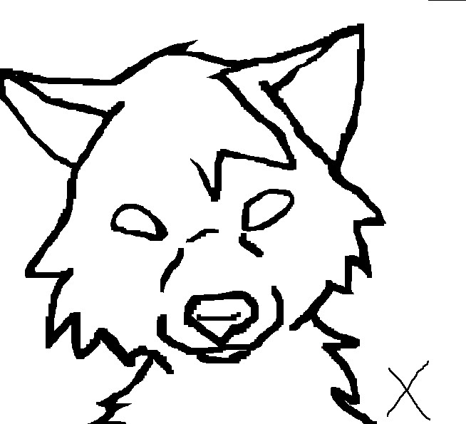 654x595 Wolf Head Outline