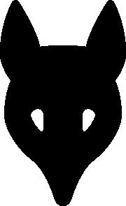 180x295 Wolf Head Silhouette Clip Art