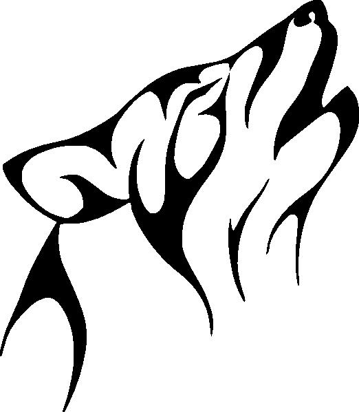 522x599 Wolf Outline Clip Art