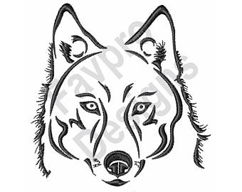 340x270 Wolf Embroidery Etsy