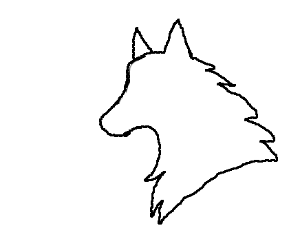 420x360 Wolf Head Template By Thecoloradowolf