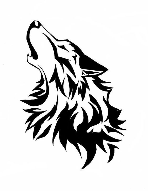 564x725 Wolf Head Stencil (For The Top Of Robb's Body) Artsy