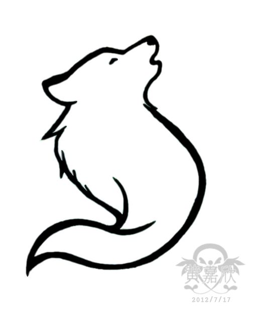 536x634 Best 25+ Simple wolf tattoo ideas Simple wolf
