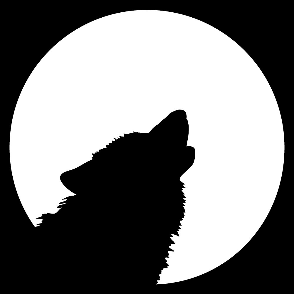 1001x1001 Howling Wolf Clipart Wolf Howling At The Moon