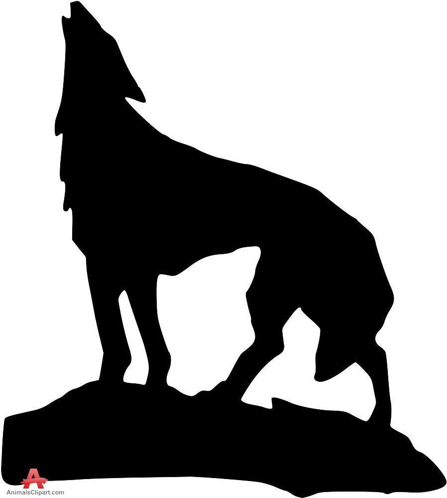 898x999 Tribal Wolf Howling With Moon Drawing Clipart Free