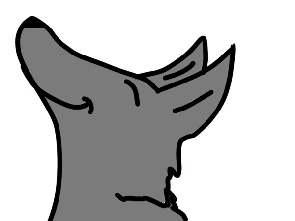 600x450 Wolf Howling Clipart