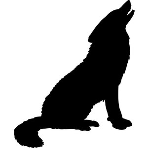 300x300 Wolf Howling Clipart Clipartfest 2