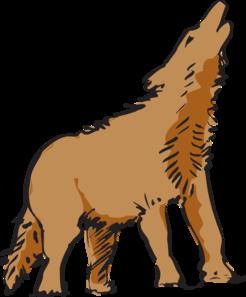 246x297 Howling Wolf Art Clip Art