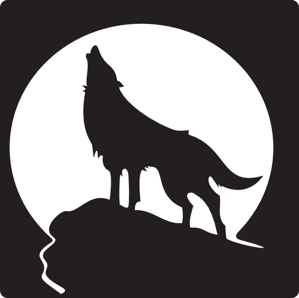 600x597 Howling Wolf Silhouette Clipart
