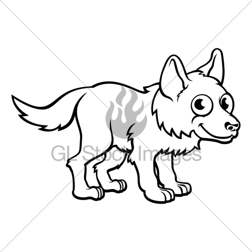 500x500 Wolf Cartoon Character Gl Stock Images