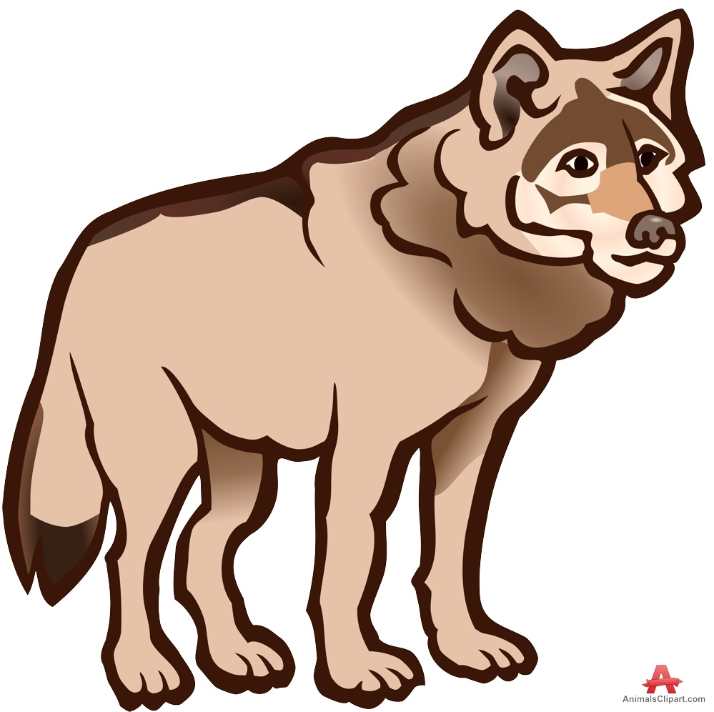 999x996 Wolf Outline Drawing In Colors Free Clipart Design Download