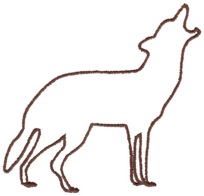 400x384 Wolf Outline3.99 X 3.80 Do It Yourself! Wolf