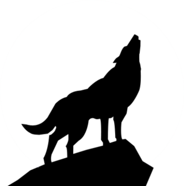 599x600 Wolf Clipart Outline Howling