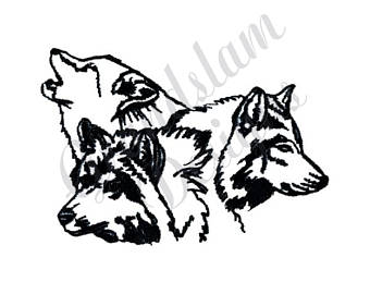 340x270 Wolf Outline Etsy