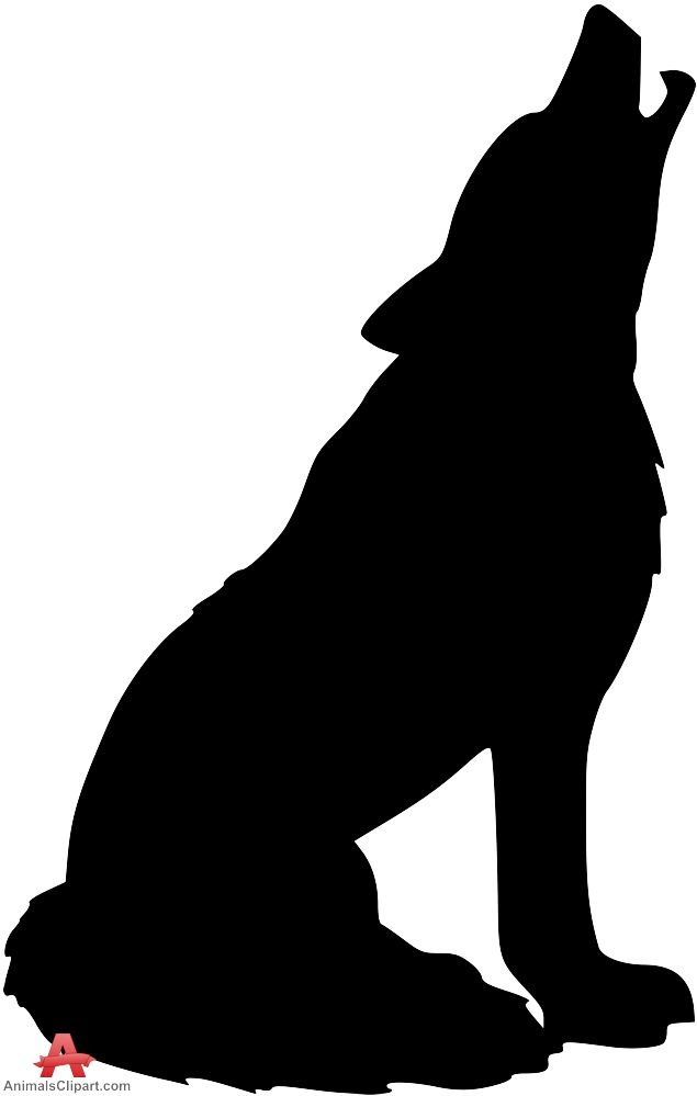 635x999 Arctic Wolf Clipart Outline Howling