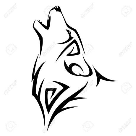 460x460 Best Simple Wolf Tattoo Ideas Simple Wolf