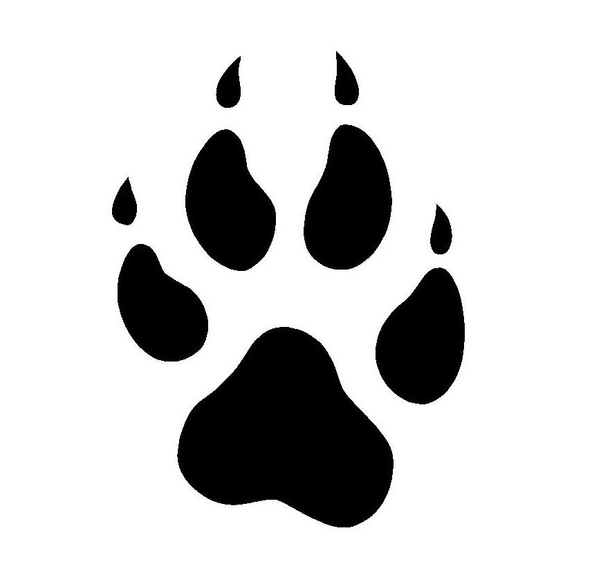 Paw print wolf. Clipart free download best