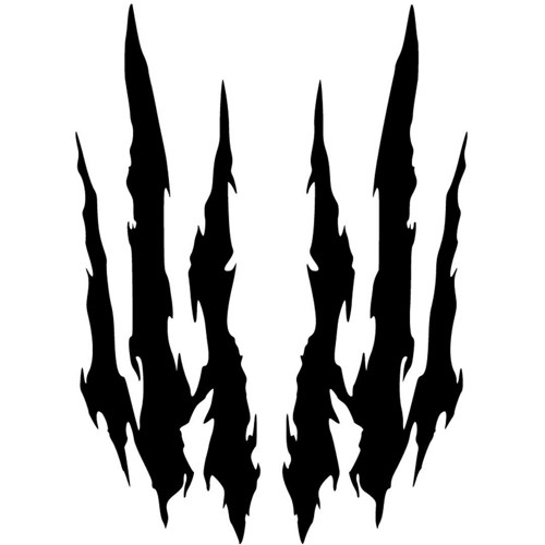 500x500 Image Of Claw Marks Clipart