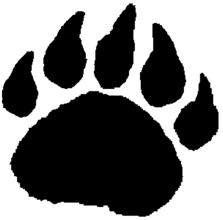 2284x2250 Bear Cub Paw Print Clip Art