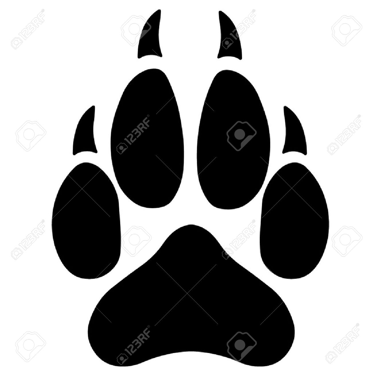 1300x1300 Wolf Clipart Wolf Paws