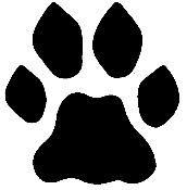 172x175 Wolf Paw Print Clip Art