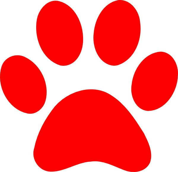 600x578 Best Paw Print Clip Art Ideas Paw Print Drawing