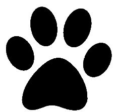 Wolf Paw Print Clipart