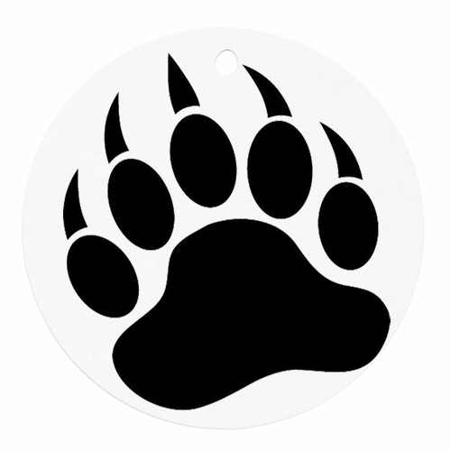 500x500 Graphics For Wolf Paw Print Graphics
