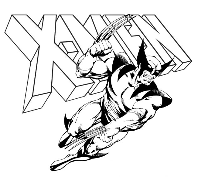 free coloring pages of wolverine - photo#33