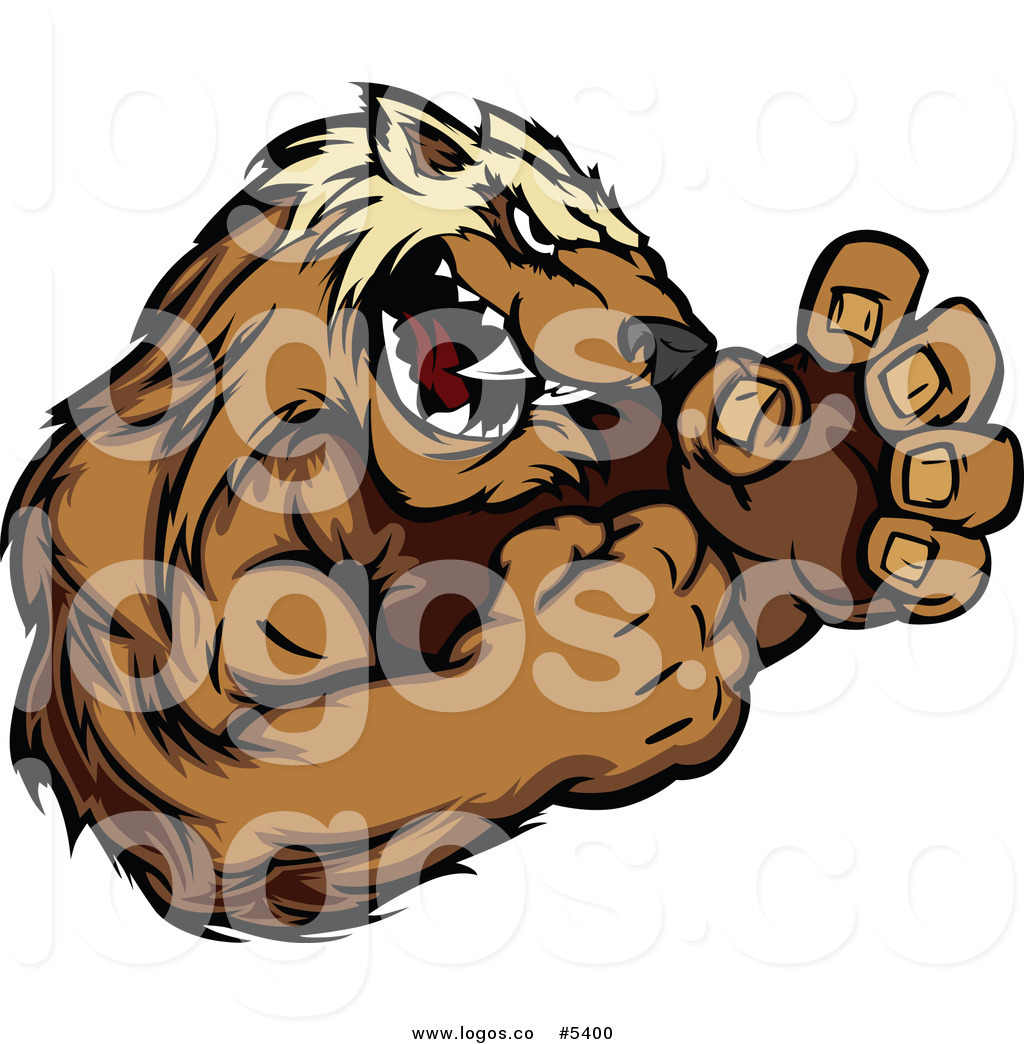 1024x1044 Royalty Free Vector Of A Logo Of An Aggressive Wolverine Fighting