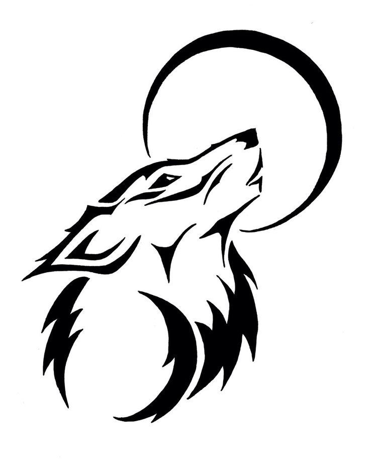 736x940 Best Wolf Moon Ideas Wolf Drawings, Wolf