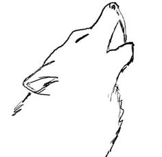 236x228 How To Draw A Howling Wolf Kids, Step By Step, Animals