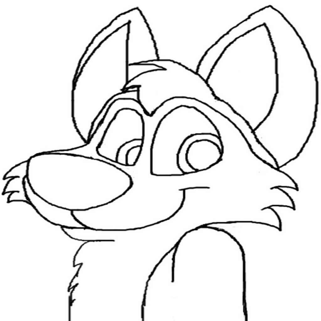 1024x1024 Wolf Cartoon Drawing Cartoon Wolf Drawings