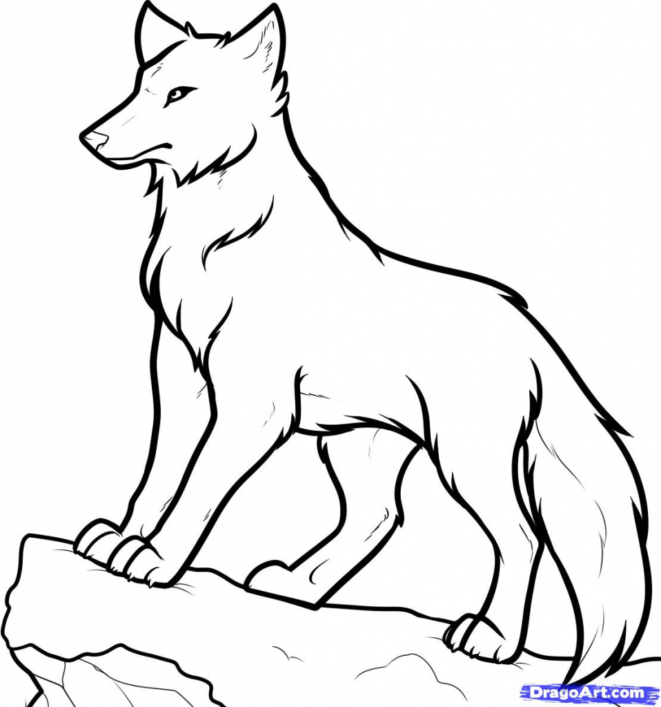 958x1024 Wolf Cartoon Drawing How To Draw Anime Wolves, Anime Wolves Step