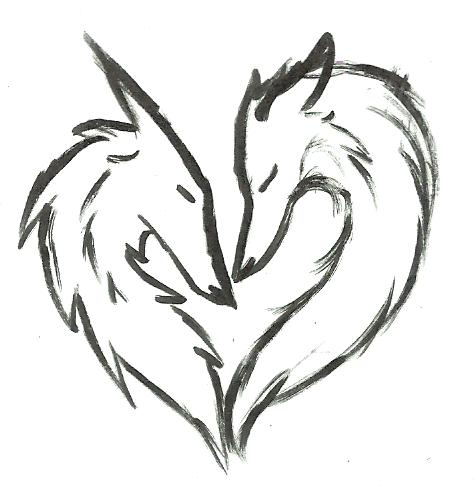 474x490 Wolf Love By Fieryhearts