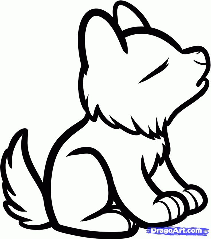 736x835 Wolf Clipart Easy