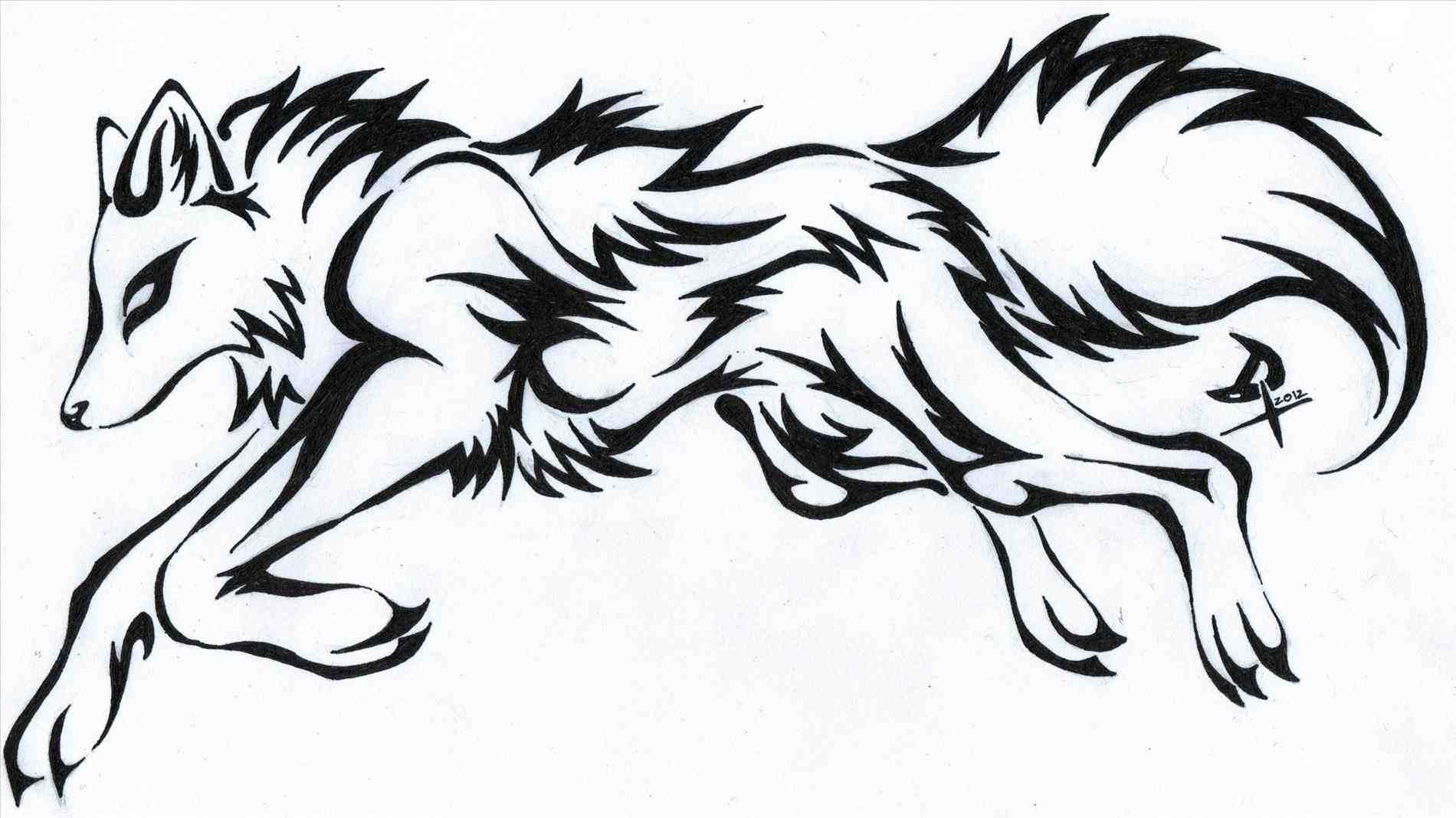 1900x1068 Drawings Of Tribal Wolves With Wings