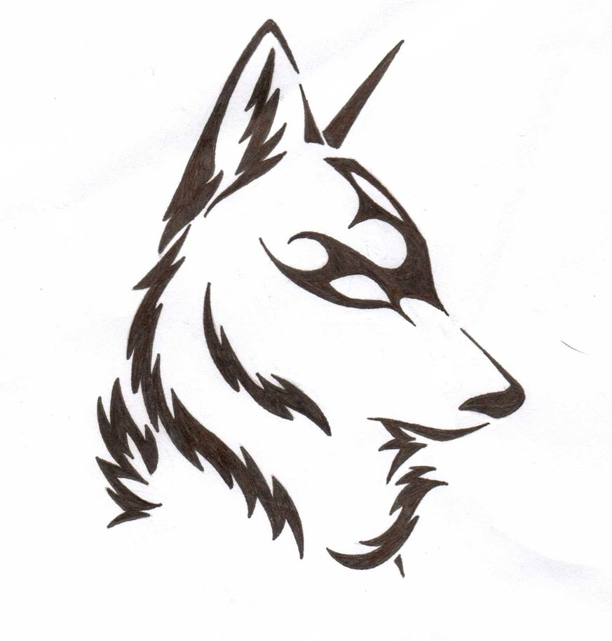 873x915 Wolf Line Drawing Images
