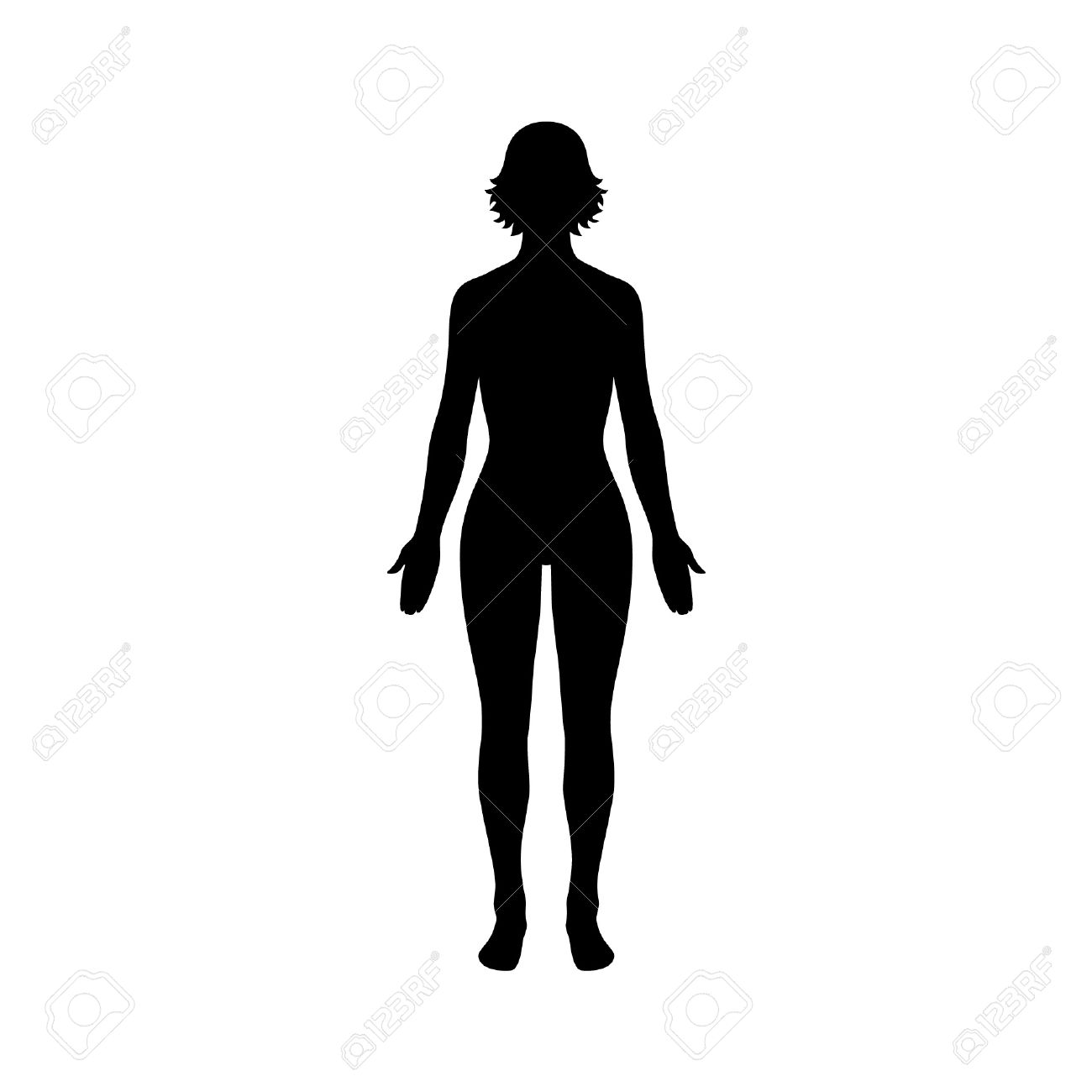 Body woman. Silhouette clipart free download