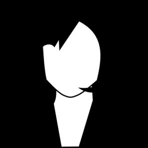 297x298 Female Black White Clip Art