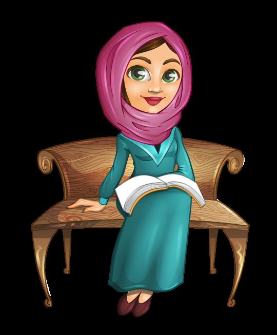 540x653 Free Beautiful Arab Muslim Woman Sitting On A Bench Clip Art