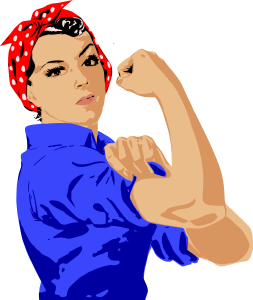 253x300 Muscle Woman Clip Art Download