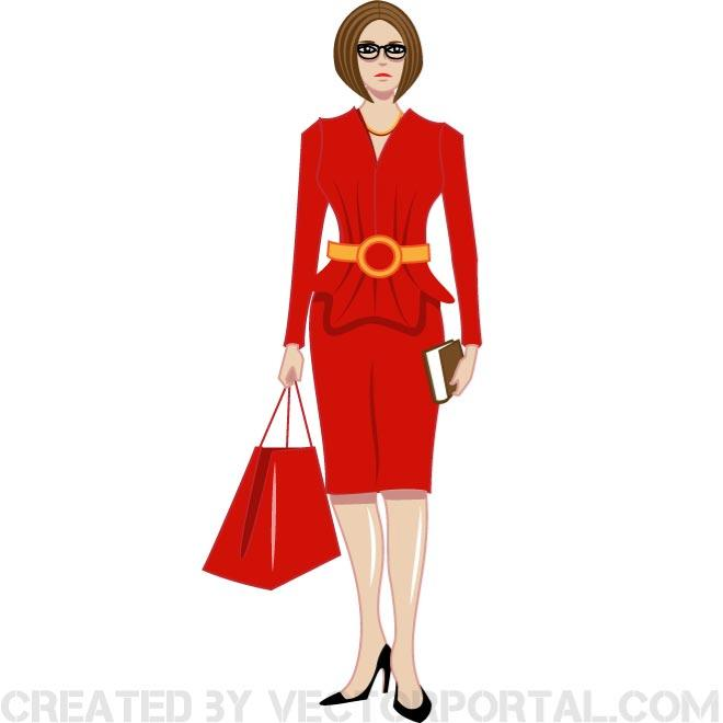 660x660 Woman Lady In Red Clip Art Free Vector Freevectors