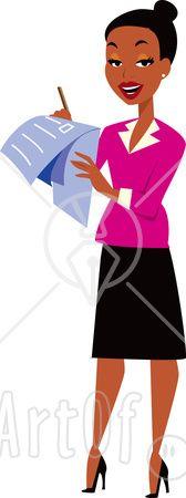168x450 Business Woman Clip Art