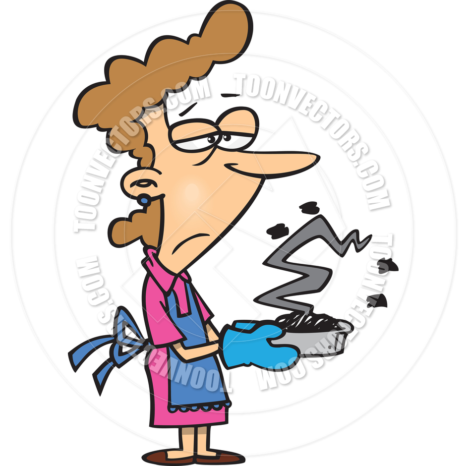 940x940 Cartoon Woman Cooking By Ron Leishman Toon Vectors Eps