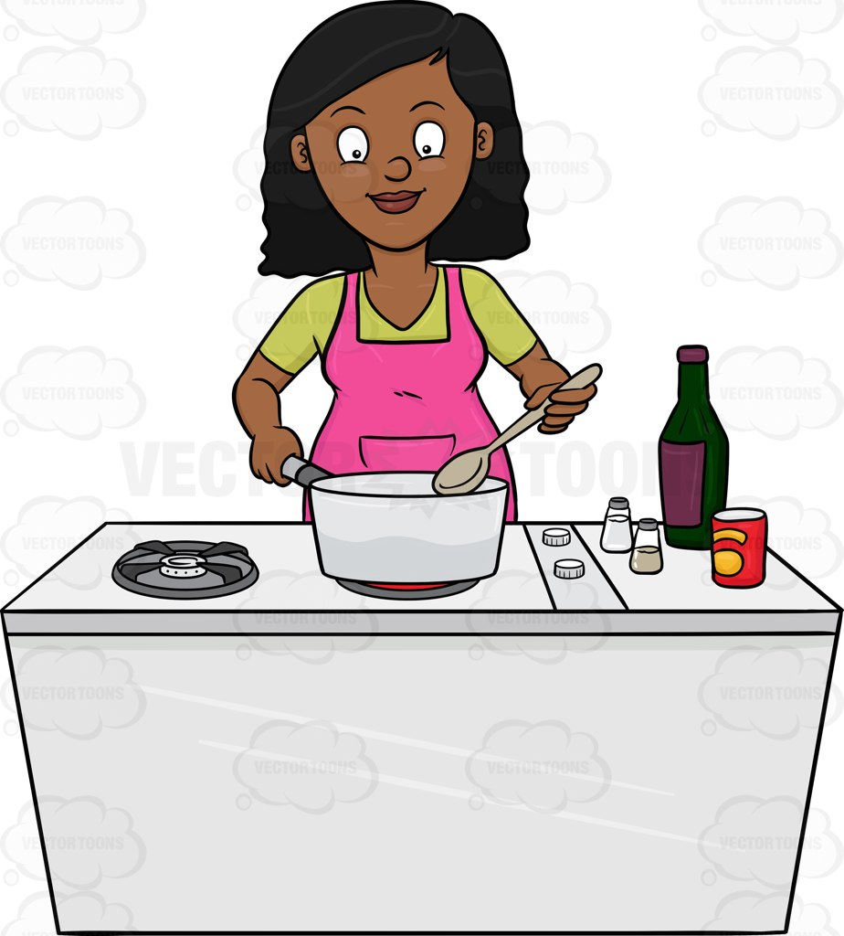 924x1024 A Black Woman Looks Happy At The Yummy Dish She Is Cooking