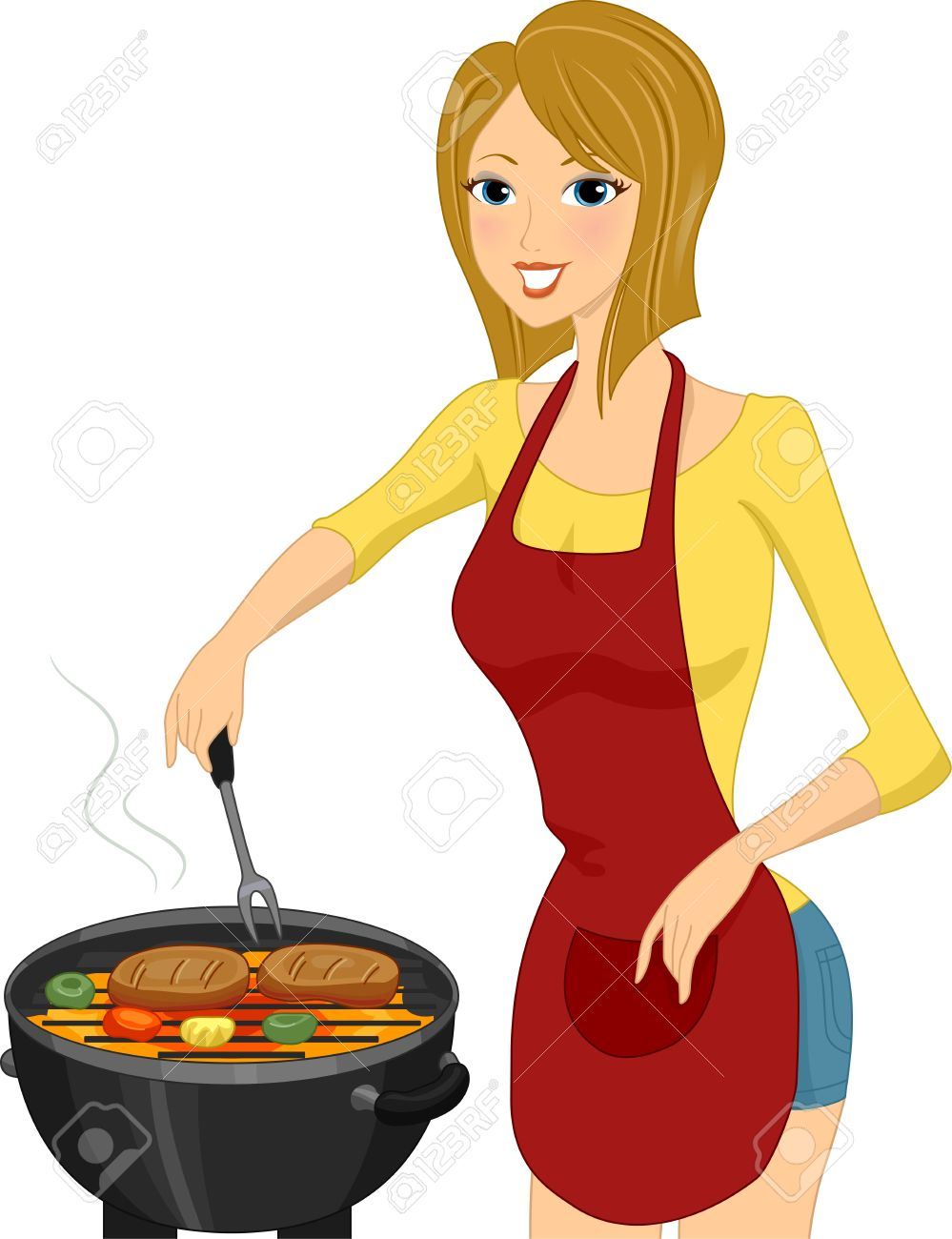 Woman Cooking Clipart | Free download on ClipArtMag
