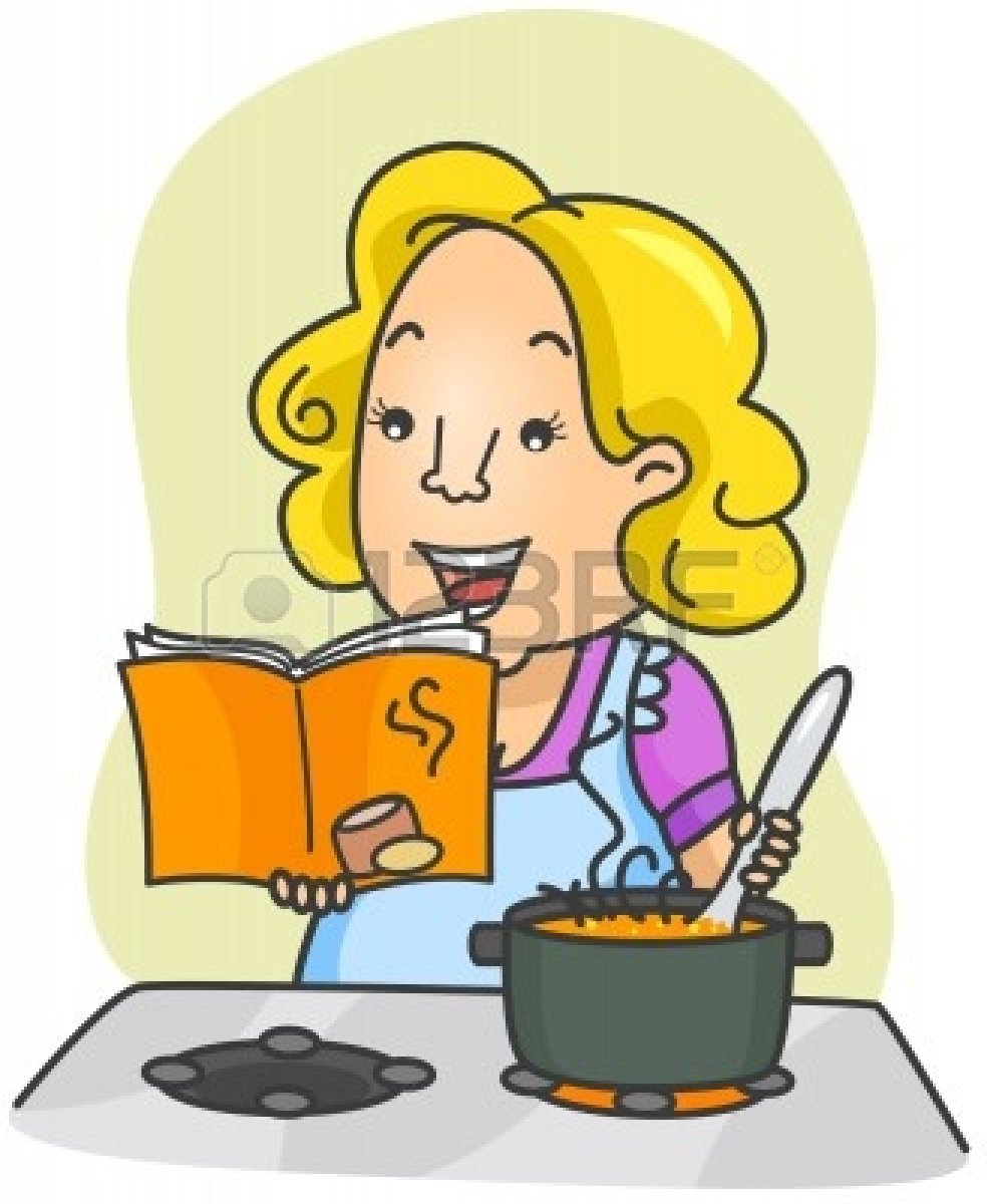 984x1200 Illustration Of Woman Cooking Food Based On Instructions