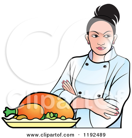 450x470 Indian Lady Chef Clipart